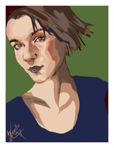 Portret graficznie